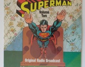 "Rare ""Superman Volume Two"" Original Radio Broadcast Vinyl Record (1974) - Excellent Condition"