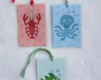 Three Mini SEA LIFE Bookmarkers