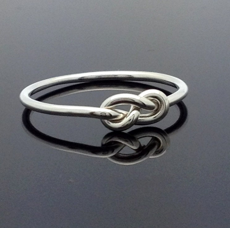 16g infinity ring sterling silver knot ring by