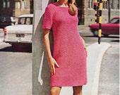 Vintage 1970s New Zealand Knitting Pattern - Fontana Leaflet No. 886 - Woman's Dress in DK