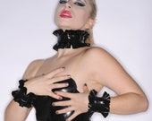 Latex Single Ruffle Wrist Cuffs