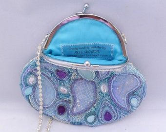 paisley beaded purse