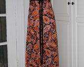 60s Dress, Kelly Arden, Maxi, Pop Art, Print, Paisley, Flowers, Size Small