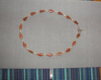 """16"""" Goldstone Fall Leaves Necklace"""