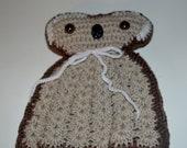 Vintage Knit Owl Teapot Cosy Cover Kitchen Decor