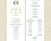 Printable, DIY Wedding Programs - Simple, But Elegant