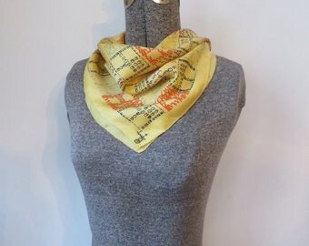 Small Square Symphony Scarf, Letters & Numerals
