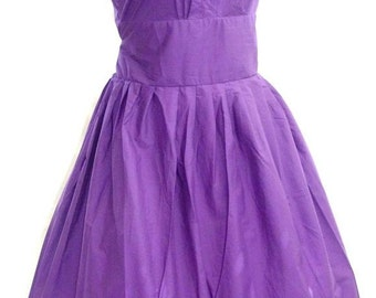 Vintage style lavender  rockabilly 50's  mad men  pin up bridesmaid wedding costume  DRESS  Medium M