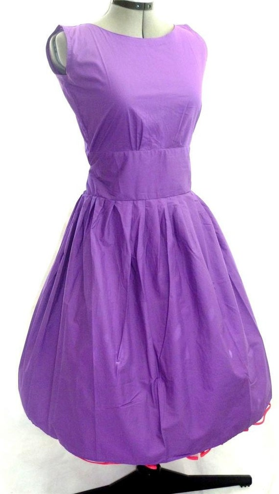 Vintage style lavender rockabilly 50 39 s mad men by piyuspret for 50 s pin up wedding dresses