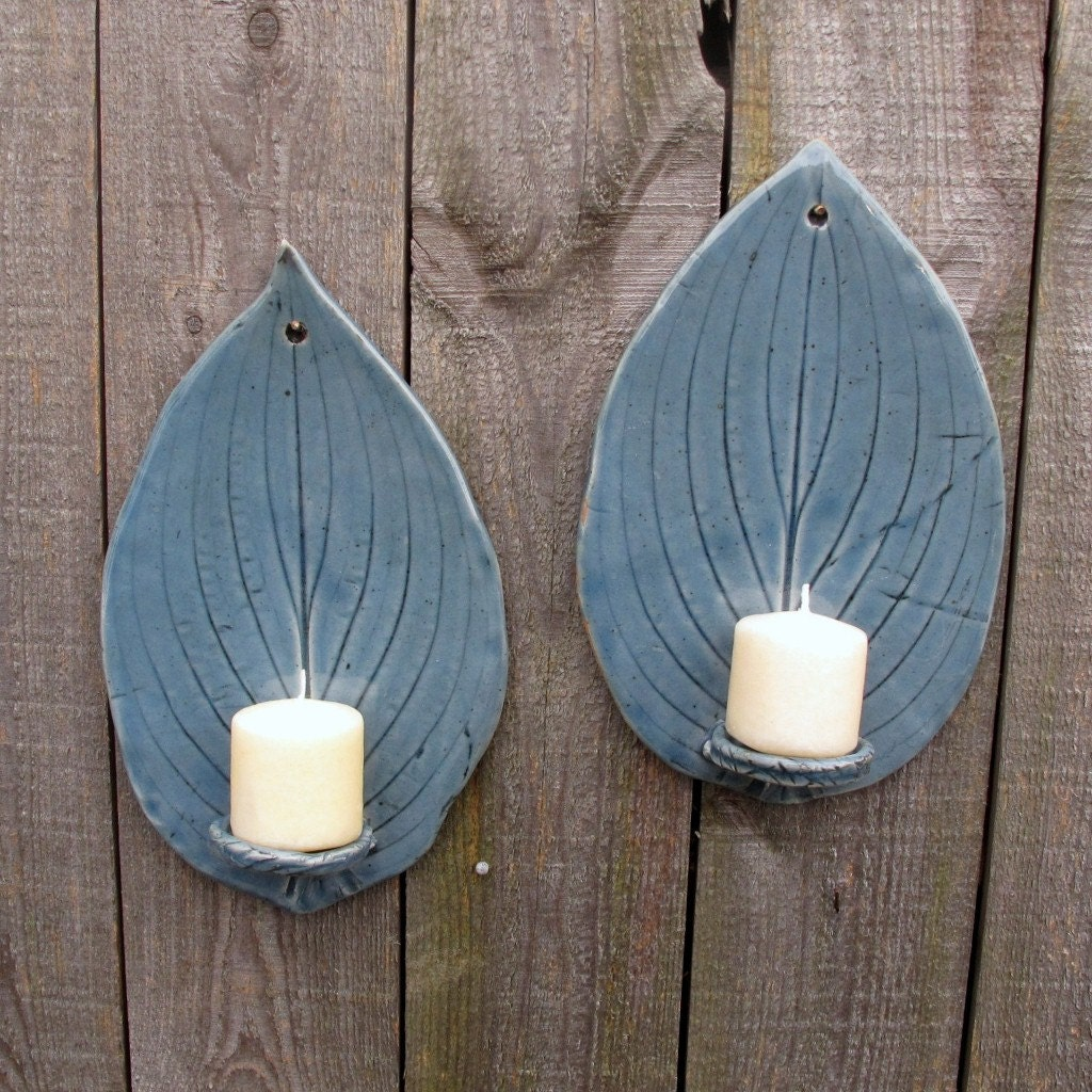 handbuilt tall hosta leaf clay pottery wall by starlightclay. Black Bedroom Furniture Sets. Home Design Ideas