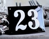 "Enamel Address Number 4.3"" x 5.5"""