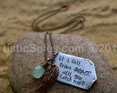 If I Fall from Grace custom Metal Stamped Necklace