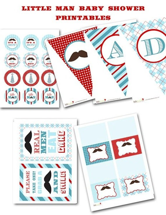items similar to little man baby shower mustache bash printables
