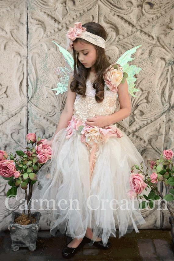 items similar to fairy flower girl dres fairy dress