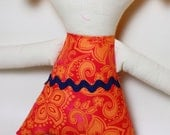 Soft Cloth Doll - Yellow Navy and Pink