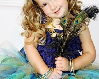 Peacock Eye Feather Headpiece...Headband...Newborn, Infant, Toddler, Girls, & Adult Sizes