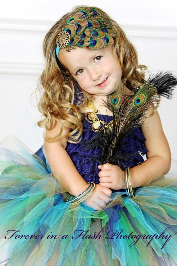 Peacock Eye Feather Headpiece...Headband...Newborn, Infant, Toddler, Girls, & Adult Sizes