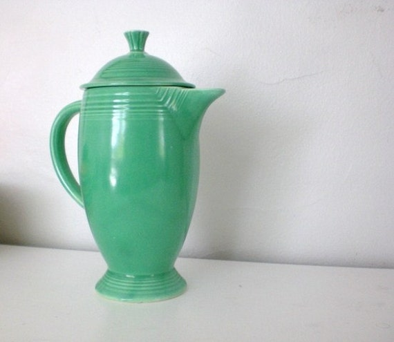 Vintage Fiestaware Coffee Pot Light Green