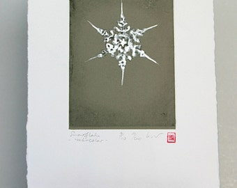Snowflake - Original Etching