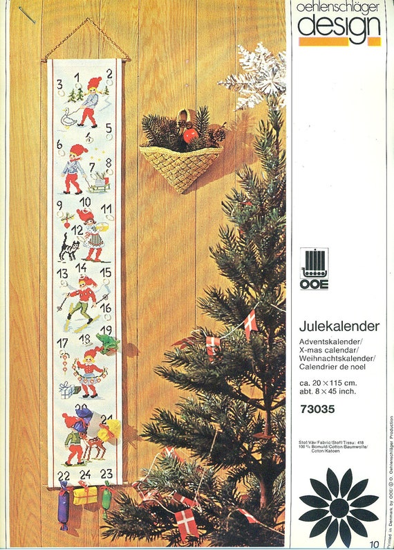 Oehlenschlager Ooe Counted Cross Stitch Julekalender Pattern
