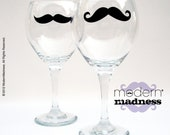 Mustache Red Wine - Oversized Glasses - (set of 2)