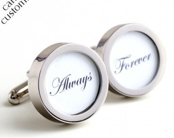 Always and Forever Cufflinks Romantic Gift for Groom or Someone Special PC233