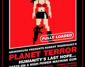 Planet Terror 8-Bit Game Style Print - 12x16