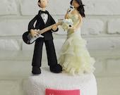 Custom Wedding Cake Topper - Musician guitarlist singer - gift decoration