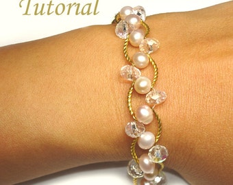Beading Tutorial - Beaded Pearl Bliss Bracelet