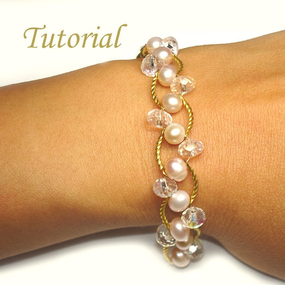 Beading Tutorial - Beaded Pearl Bliss Bracelet