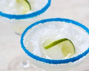 Margarita salt - blue salt, colored margarita salt rim for drinks glasses