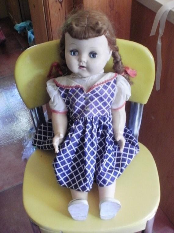 Antique Baby Doll, Cries, has original teeth,