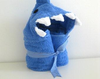 Shark Hooded Towel - Bath Hooded Towel - Baby Gift