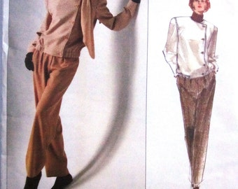 Vogue 2411 Calvin Klein Womens Jacket Pants Sewing Pattern Bust 31 to 34