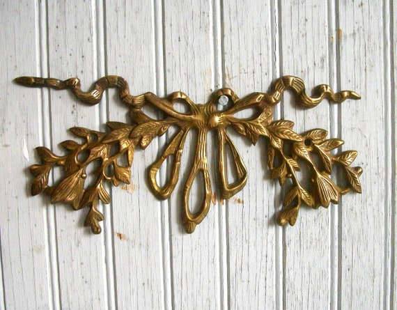 Vintage Hollywood Regency Brass Wall Decoration