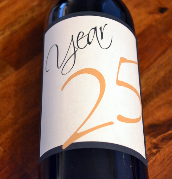 Anniversary Wine Labels, Wedding, Table Numbers, custom, personalized, favors, decoration, sticker, custom labels, Wedding DIY, Labels, DIY