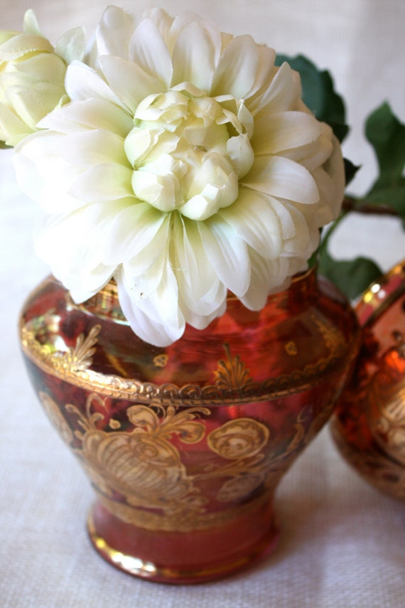 Ruby Red Glass Vases