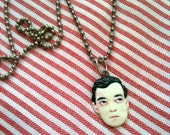 Porcelain Buster Keaton Inspired Pendants- You choose style/color