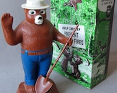 Vintage 50s Smokey The Bear Bank w/ box Product Miniature Company Only You!