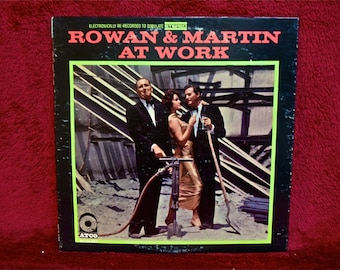 ROWAN & MARTIN - Rowan and Martin at Work - 1960s Vintage Vinyl Record Album