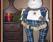 S* A* L*  E  Christmas Snowman, Snowman, Primitive Snowman, Folk Art Snowman, Merry Christmas Snowman