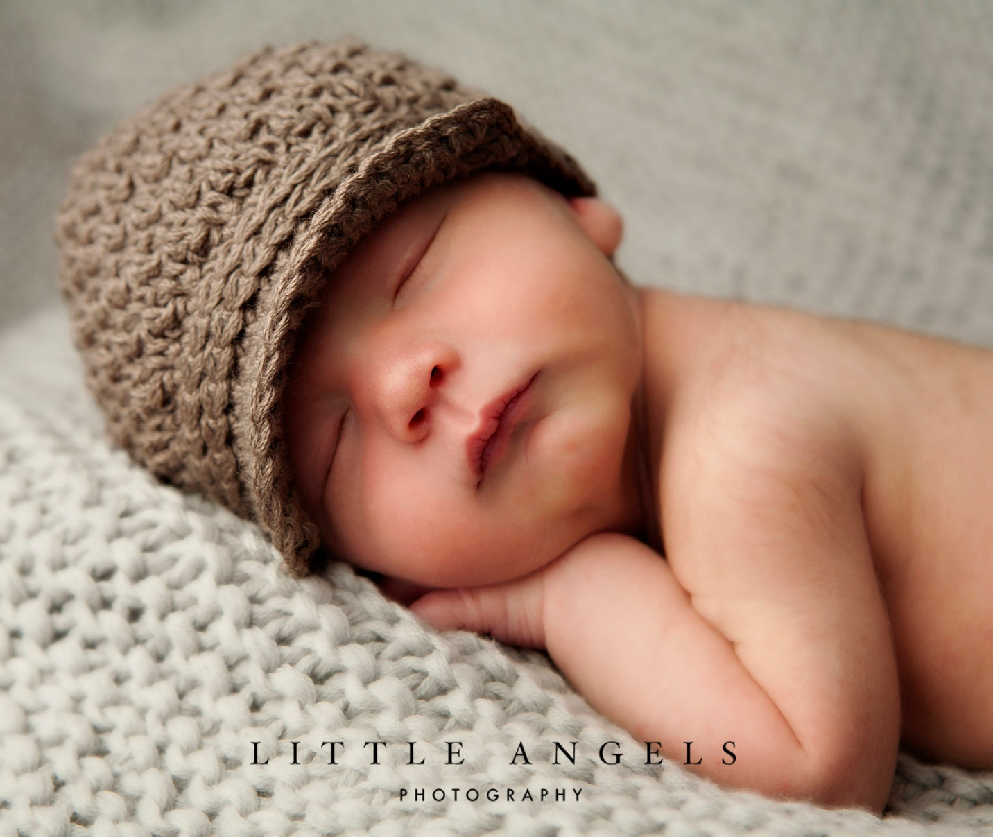 Brown-Eyed Boy Newsboy Crochet Hat Pattern 464