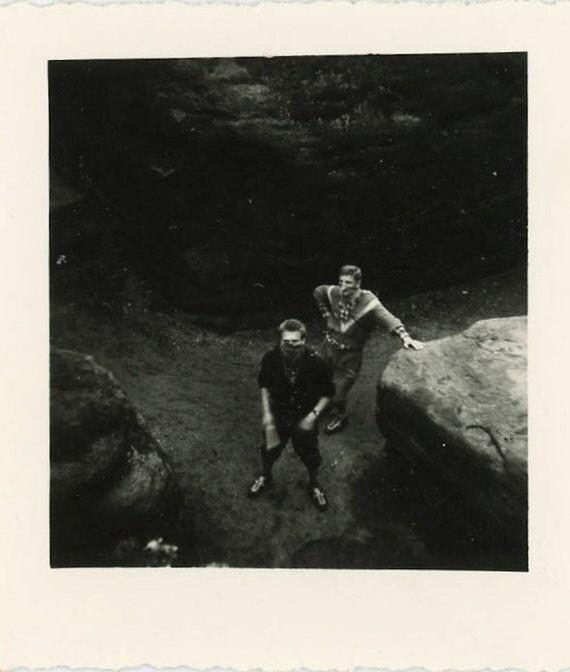 "Vintage Photo ""Hoodlums"", Photography, Paper Ephemera, Snapshot, Old Photo, Collectibles - 0082"