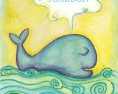 Personalized Whale Nursery Print