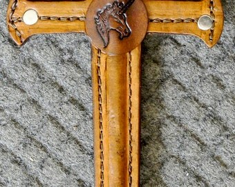 Dagger w/ UNICORN Emblem - Handmade Leather