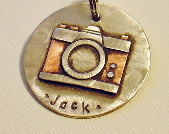 Dog ID Tag, Key Chain, or Backback tag- Camera