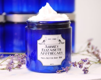 Lavender Vanilla Shea Butter Body Whip - Mother's day gift - Vegan -  Rich Cream moisturizer with coconut oil