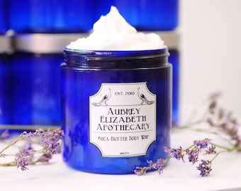 Lavender Vanilla Shea Butter Body Whip - Vegan -  Rich Cream moisturizer with coconut oil