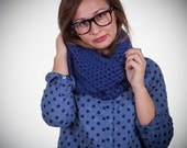 Thick Crocheted Cobalt EVERY DAY Snood Scarf