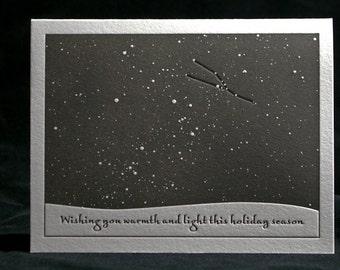 Winter Solstice Letterpress Card